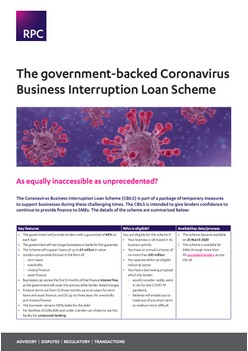The government-backed Coronavirus Business Interruption Loan Scheme