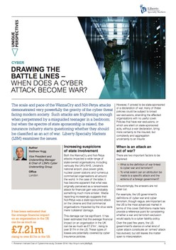 Drawing Battle Lines - When Does A Cyber Attack Become War?