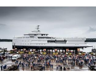 Hull launched of custom Damen SeaXplorer 77 superyacht La Datcha - Superyacht Times