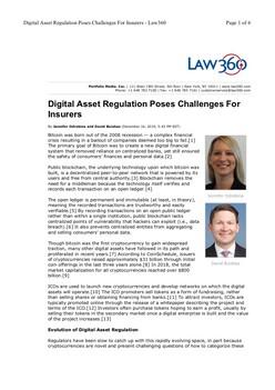 Digital Asset Regulation Poses Challenges For Insurers - Law360