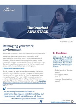 The Crawford ADVANTAGE — October Issue