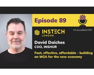 Podcast – David Daiches, COO, Inshur. Fast, effective, affordable - building an MGA for the new economy