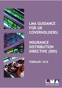 LMA Guidance for UK Coverholders: Insurance Distribution Directive