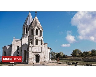 Nagorno-Karabakh: Armenia accuses Azerbaijan of shelling Shusha cathedral - BBC