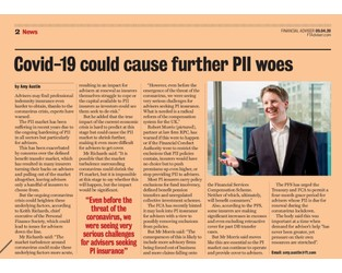 Covid-19 could cause further PII woes - Financial Adviser