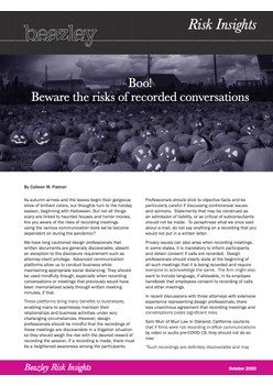 Boo! Beware the risks of recorded conversations