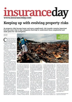 Keeping up with evolving property risks - Insurance Day