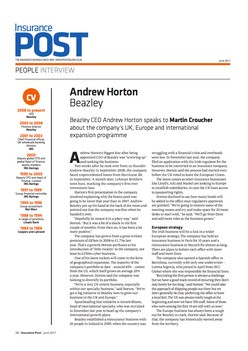 Beazley CEO Andrew Horton speaks to Insurance Post