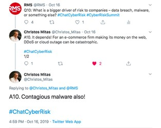 Cyber Risk Under the Spotlight: RMS and NetDiligence #ChatCyberRisk