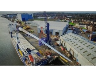 World's Longest Offshore Wind Turbine Blade Arrives in U.K. - The Maritime Executive
