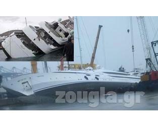 Mega yacht belonging to Saudi Prince capsized in repair yard, no injuries - FleetMon