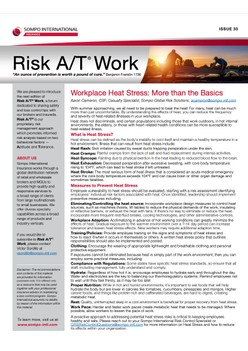 Risk A/T® Work Newsletter Issue 33 (English) – Workplace Heat Stress: More than the Basics
