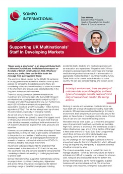 Supporting UK Multinationals' Staff In Developing Markets
