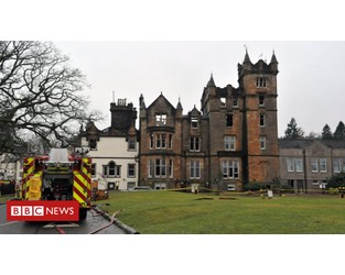 Cameron House: Fire caused by ash left in cupboard - BBC