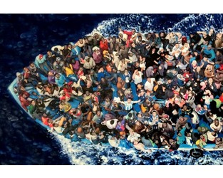 Refugee rescue painting scoops MS Amlin World Art Vote