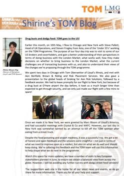 Shirine's Blog on Taking TOM to the US