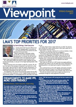 LMA'S top priorities for 2017