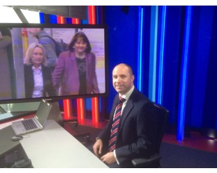 Geoff White talking to Sky News