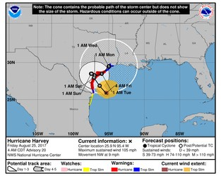 Hurricane Harvey still intensifying, catastrophic impacts possible in Texas