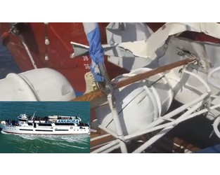 Tour boat collision filmed by passenger, Argentina - FleetMon