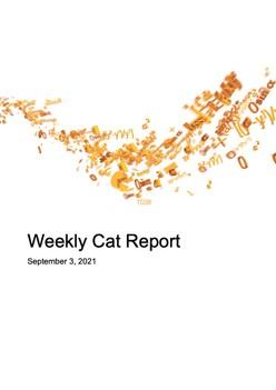 Weekly Cat Report - September 3, 2021