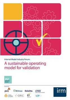 Internal Model Industry Forum: A sustainable operating model for validation