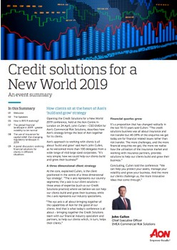 Credit solutions for a New World 2019