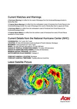 Current Watches and Warnings - Hurricane Eta
