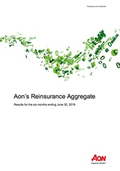 Aon's Reinsurance Aggregate - Results for the six months ending June 30, 2019