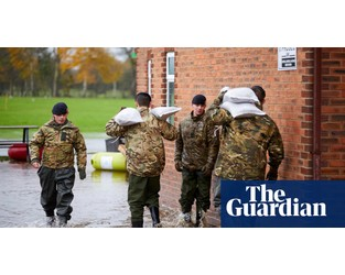 Flooding chaos in northern England to continue until Tuesday - The Guardian