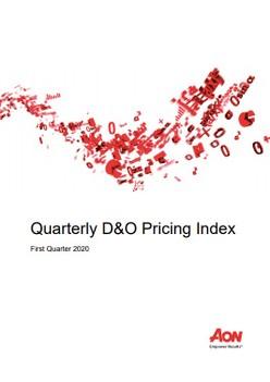 Quarterly D&O Pricing Index - First Quarter 2020
