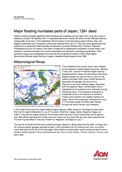 Impact Forecasting Cat Alert: Japan Floods