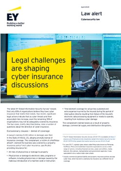 Legal challenges are shaping cyber insurance discussions