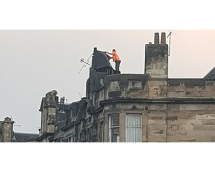 Stirling city centre street was closed after high winds damaged building's roof - Daily Record