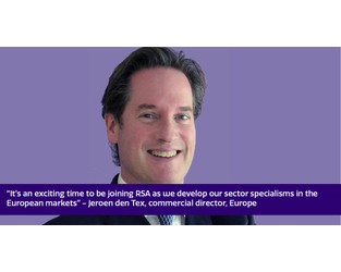 Jeroen den Tex joins RSA as commercial director for Europe