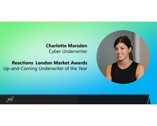 AXIS Insurance Cyber Underwriter Charlotte Marsden wins Up-and-Coming Underwriter of the Year at the 2020 Reactions London Market Awards