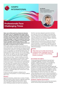Professionals Face Challenging Times