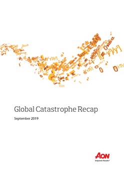 Global Catastrophe Recap - September 2019