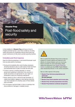 Disaster Prep: Post-flood safety and security
