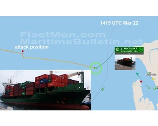 Container ship attacked in Gulf of Guinea, AIS went off - FleetMon