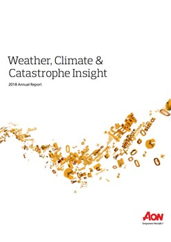 Weather, Climate & Catastrophe Insight - 2018 Annual Report