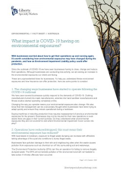 What impact is COVID-19 having on environmental exposures?