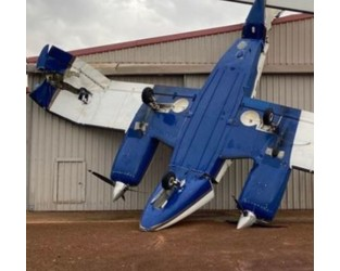 Planes flipped, buildings trashed as freak storm lays waste to outback airport - ABC News