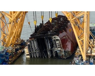 Chain Link Breakage Continues to Plague Golden Ray Wreck Removal - The Maritime Executive