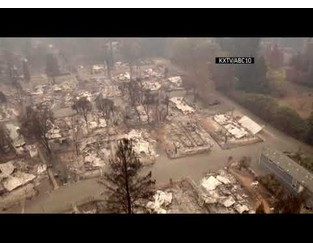 Drone video shows NorCal wildfire devastation - AP