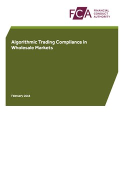 Algorithmic Trading Compliance in Wholesale Markets