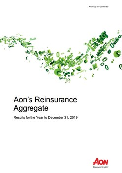 Aon's Reinsurance Aggregate - Results for the Year to December 31, 2019
