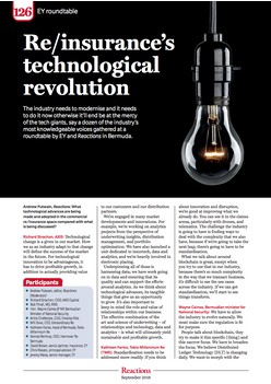 Re/insurance's technological revolution - Reactions