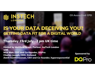 Webcast: Is Your Data Deceiving You? Getting Data Fit for a Digital World - Bright Talk