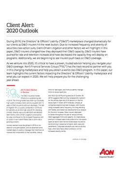 Client Alert: 2020 Outlook
